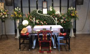 家族葬プラン祭壇写真