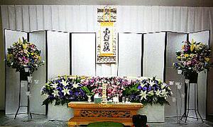 きさの家族葬祭壇(一例)